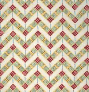 Fabric Free Spirit Feathered by Zandra Rhodes - Zig Zag in Desert