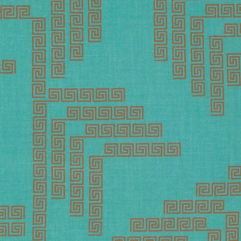Fabric Free Spirit Fibs & Fables by Anna Maria Horner - Labyrinth in Aqua