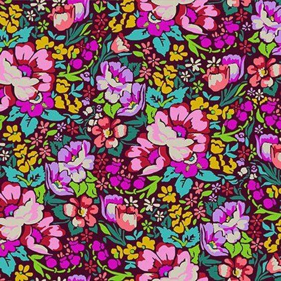 Fabric Free Spirit Floral Retrospective by Anna Maria Horner - Overachiever in Burgundy