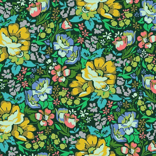 Fabric Free Spirit Floral Retrospective by Anna Maria Horner - Overachiever in Forest
