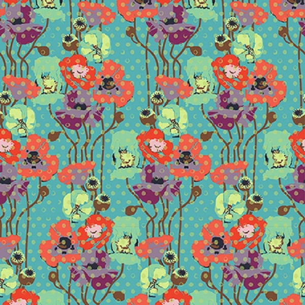 Fabric Free Spirit Floral Retrospective by Anna Maria Horner - Raindrops Poppies in Candy