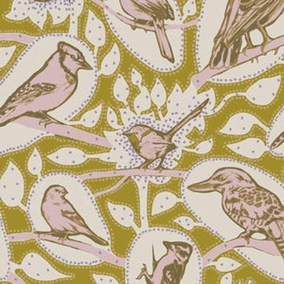 Fabric Free Spirit Sweet Dreams by Anna Maria Horner - Cacophony in Saffron