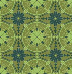 Fabric Free Spirit True Colors by Anna Maria Horner - Medallion in Emerald