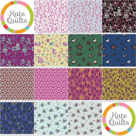Fabric Free Spirit Woodland Walk by Nathalie Lete - Fat Quarter Bundle