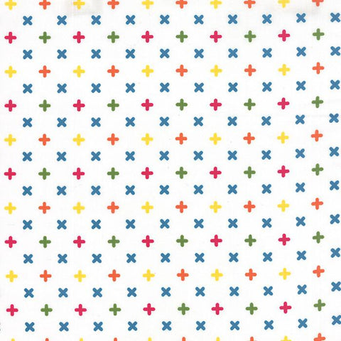 Fabric Moda Best Day Ever by April Rosenthal - Math Need in White