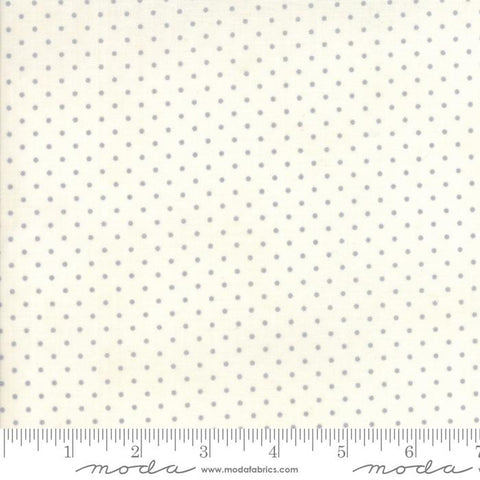 Fabric Moda Essentially Yours by Moda Classic - Essential Dot in White and Silver