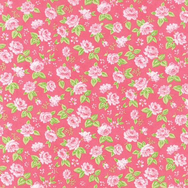 Fabric Moda Sew & Sew by Chloe's Closet - Floral Garden in Strawberry