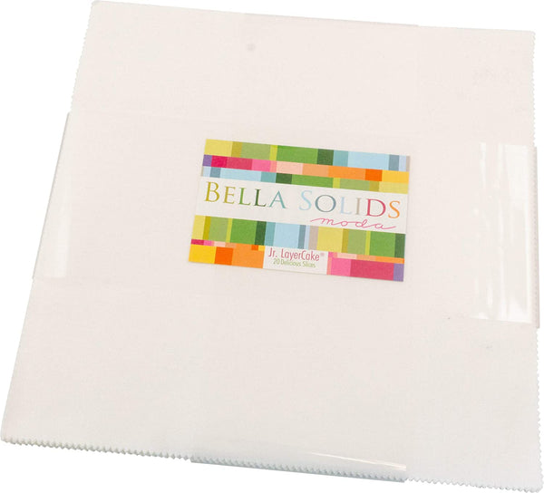 Precuts Moda Bella Solids by Moda - Layer Cake - White