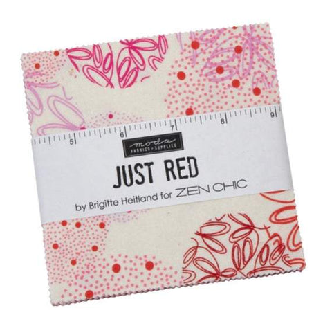 Precuts Moda Just Red by Zen Chic - Charm Pack
