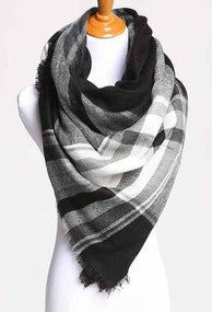 Blanket Scarf- Black & White