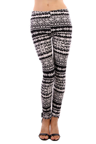 Black & White Print Leggings