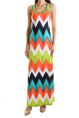 Turning Heads Chevron Maxi Dress