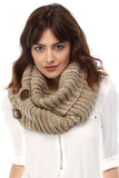 Beige Button Sweater Scarf