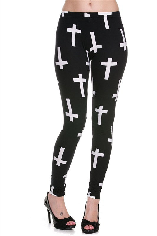 Cross Leggings-Plus