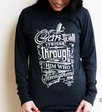 All Things Through Him Hoodie