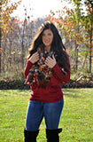 Burgundy Dolman Sleeve Top