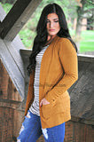 Cozy In Here Cardigan- Camel