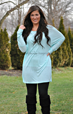 Cozy Cuddles-Mint Tunic