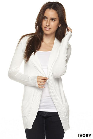 Cozy In Here Cardigan- Ivory