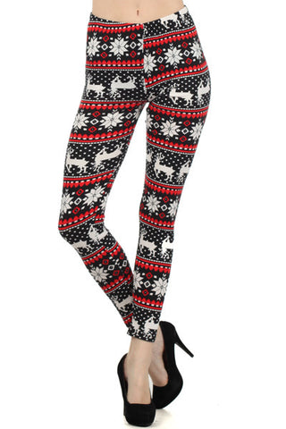 Christmas Leggings- Reindeer/Snowflakes