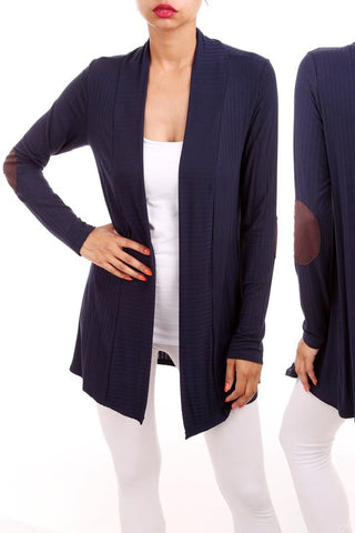 Navy Patches Cardigan