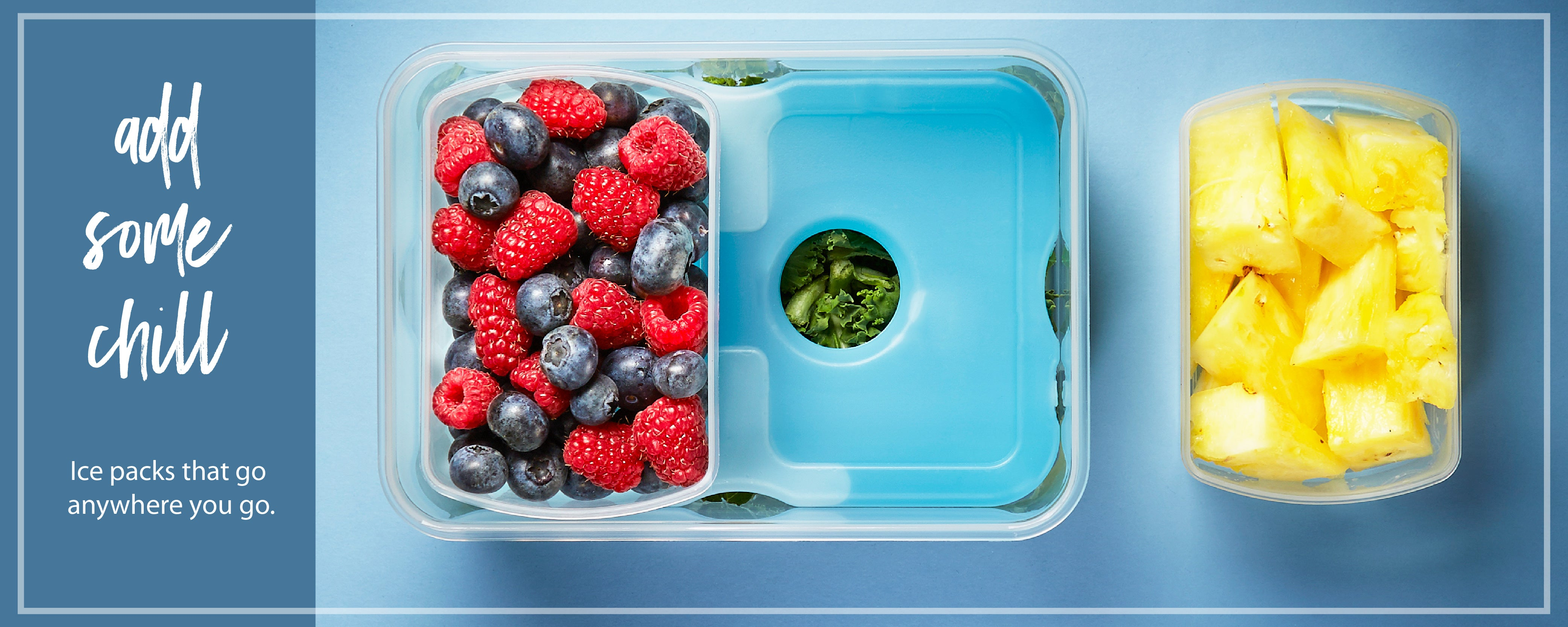 Fit & Fresh - Ice Packs for Lunch Boxes, Coolers, Beach Bags & More