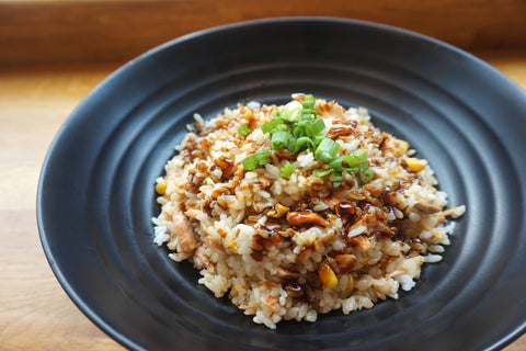 healthy brown rice dish