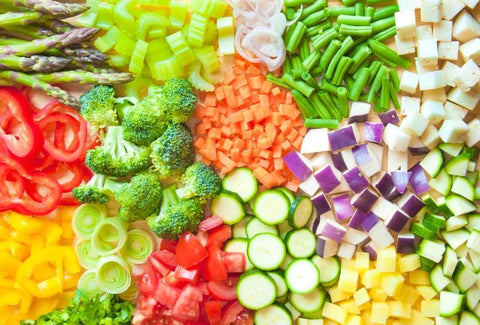 group of very colorful vegetables