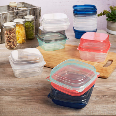 Mix & Match 20 Piece Reusable Container Set - Plastic Container - Fit & Fresh