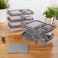 deals on Jaxx Meal Divided Container Set With Snap In Cutting Board