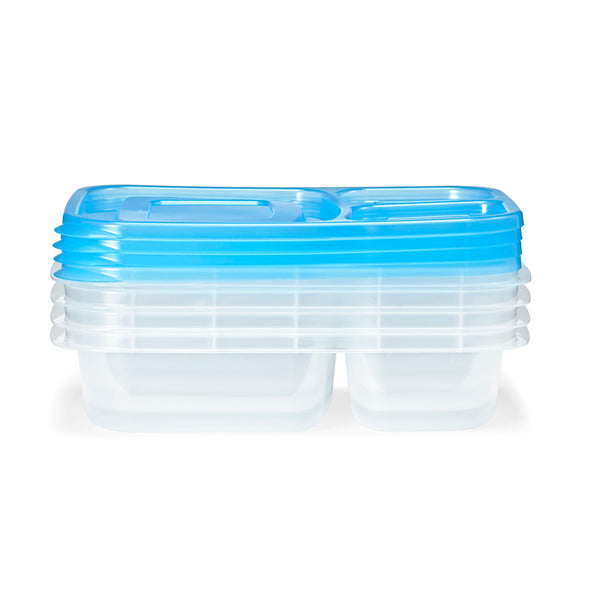 Meal Prep Containers with Blue Lids (Set of 4) - Meal Prep - Fit & Fresh