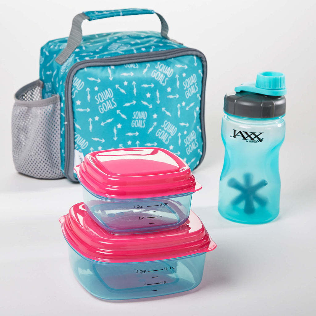 Logan Kids Insulated Lunch Bag Set With Reusable