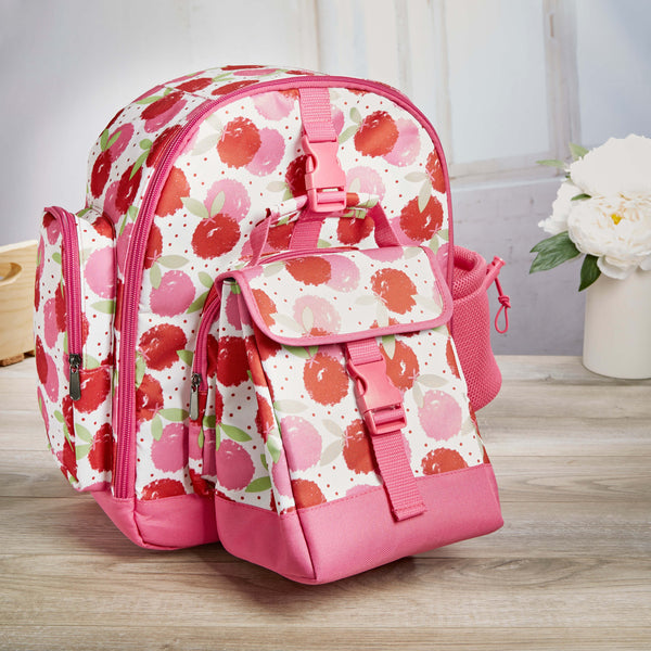 Lola Kids' School Backpack & Matching Insulated Lunch Bag (Red Berry Dot) - Kids' Bag - Fit & Fresh