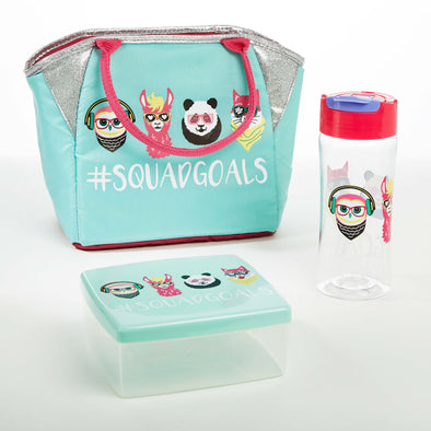 Thalia Kids' Lunch Kit (Squad Goals) - Kids' Bag Kit - Fit & Fresh
