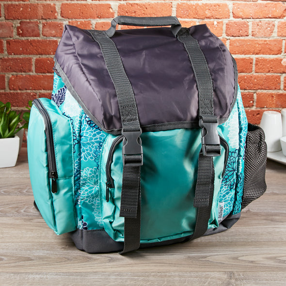 Kids' Adventure Rucksack Backpack (Aqua Spring Floral) - Kids Backpack - Fit & Fresh