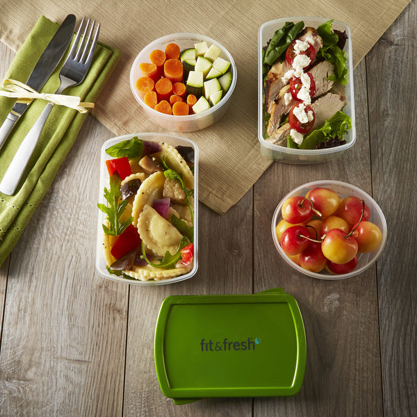 Smart Portion 1 & 2 Cup Lunch Container Set