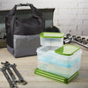 Sporty Insulated Lunch Bag with Lunch on the Go Container Set