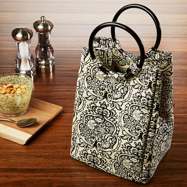 Retro Insulated Lunch Bag With Reusable Ice Pack Fit Amp Fresh