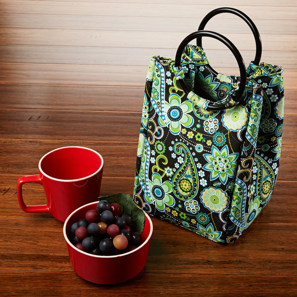 Womens Retro Insulated Lunch Bag For Work School On The