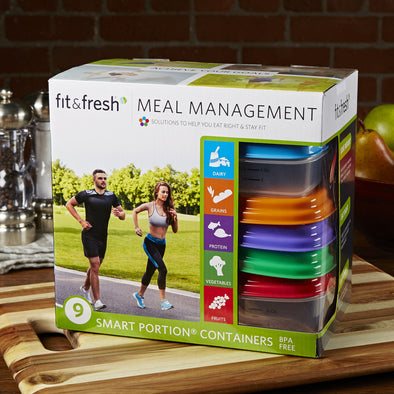 Fit & Fresh Meal Management Portion Control Container Set - Plastic Container - Fit & Fresh