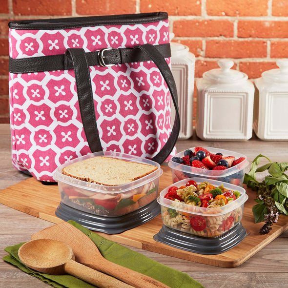 Newberry Insulated Lunch Bag Set with Reusable Containers - Ladies' Bag - Fit & Fresh