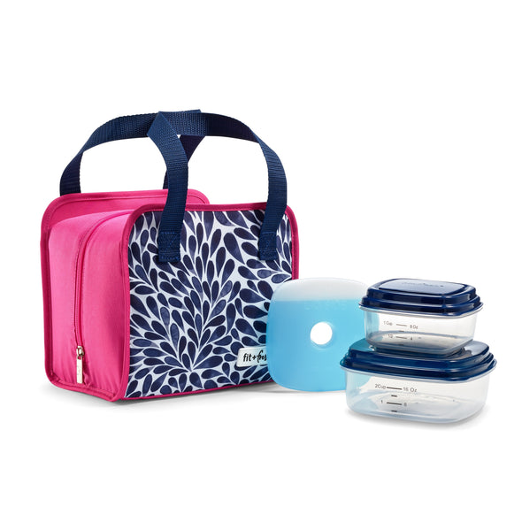 Navy Petal Shower Pembroke Lunch Kit -  - Fit & Fresh