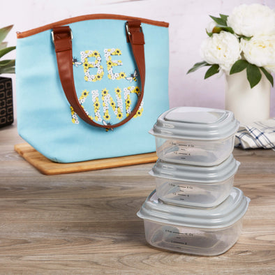 McKinney Insulated Lunch Bag Set with Reusable Containers - Ladies' Bag - Fit & Fresh