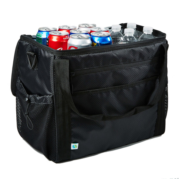 Extra Large Insulated Cooler Bag (Black) - Cooler - Fit & Fresh