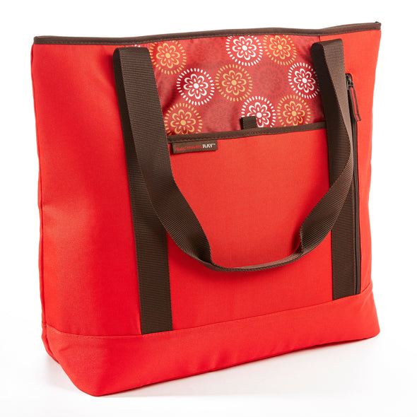 Rachael Ray ChillOut Shopper Tote, Insulated Grocery Bag (Red) - Rachael Ray - Fit & Fresh