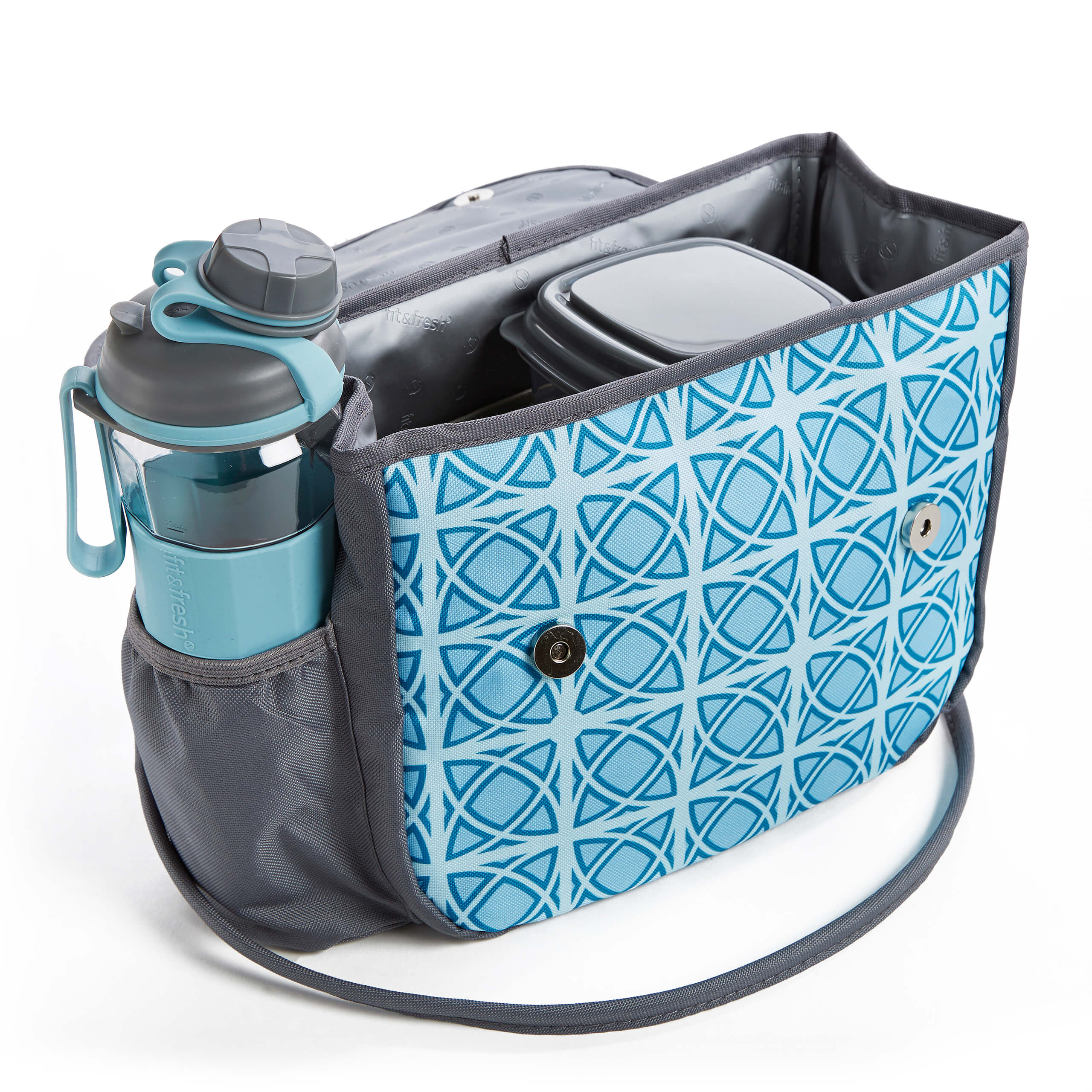 6cabc3deb33 Fit & Fresh | Lovelock Insulated Lunch Bag with Reusable Containers