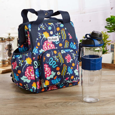 Piper Mini Backpack with 24 oz Active Sport Bottle - Travel - Fit & Fresh