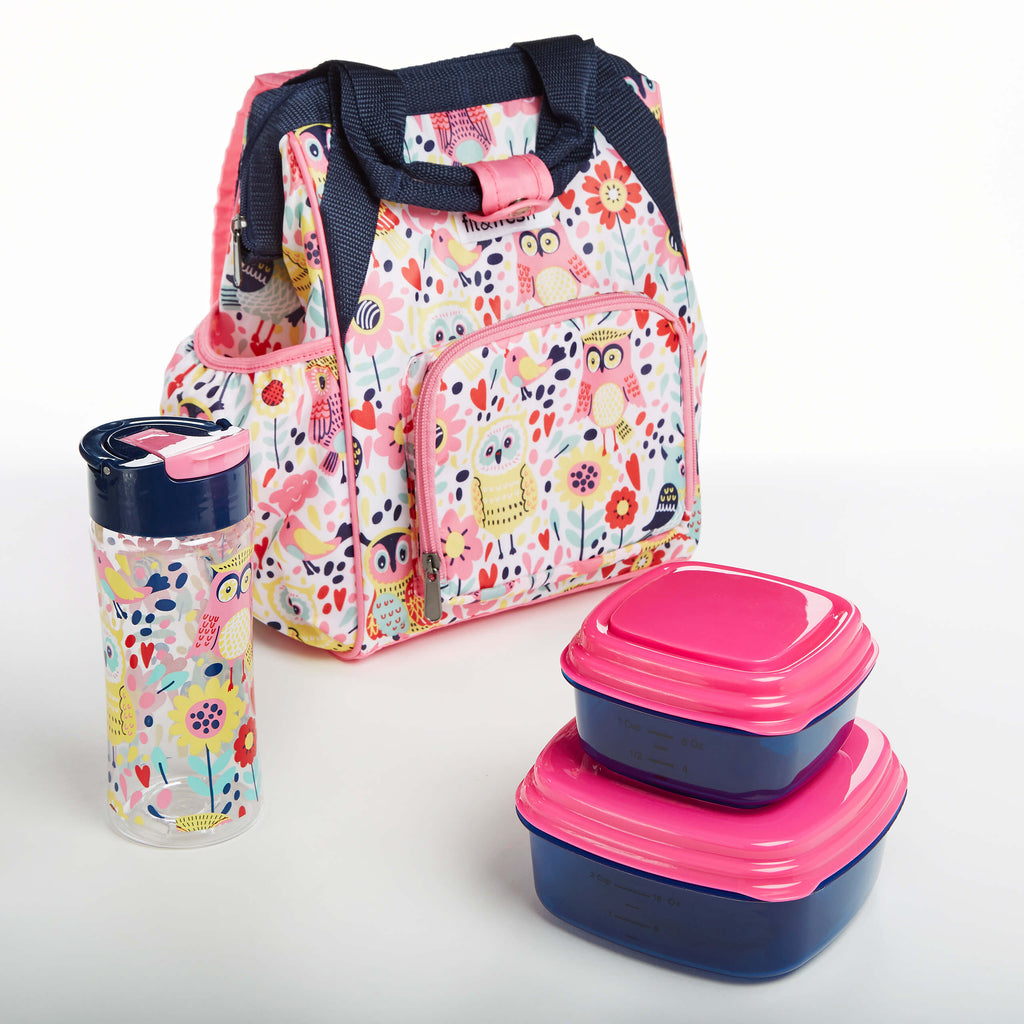 Kids' Abigail Mini Backpack With Matching Lunch Set - Kids' Bag Kit - Fit & Fresh