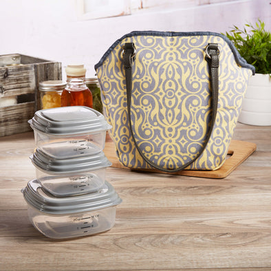Riverdale Insulated Lunch Bag Set with Reusable Containers - Ladies' Bag - Fit & Fresh