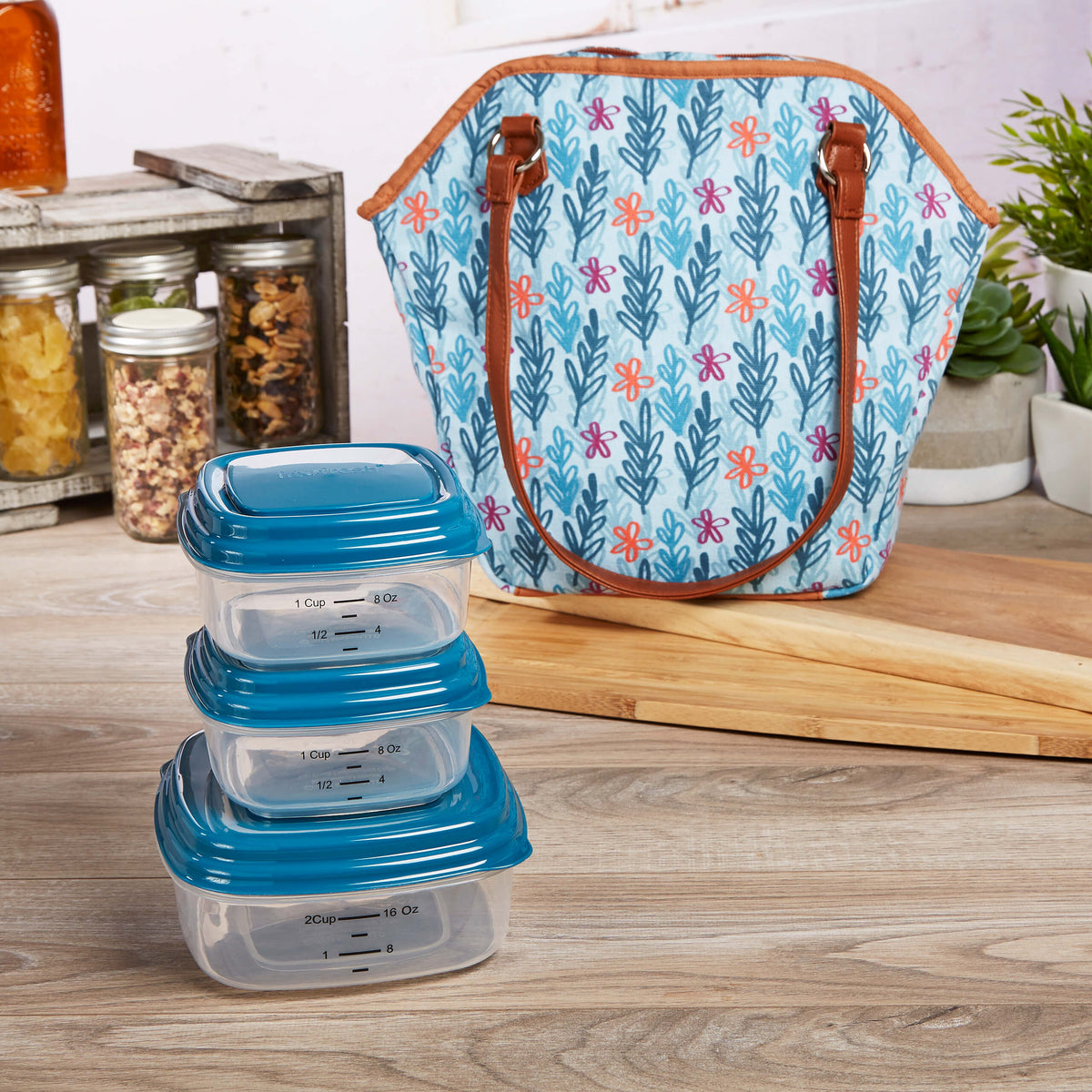 Riverdale Insulated Lunch Bag Set With Reusable Containers